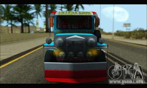Jeepney Legacy para GTA San Andreas left