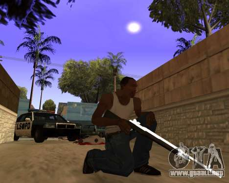 White Chrome Gun Pack para GTA San Andreas