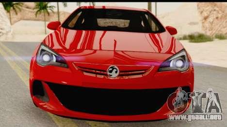 Vauxhall Astra VXR para visión interna GTA San Andreas
