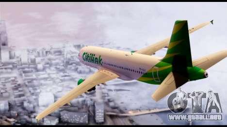 Citilink Airbus A320 PK-GLV para GTA San Andreas left