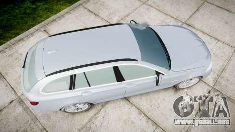BMW 525d F11 2014 Facelift [ELS] Unmarked para GTA 4 visión correcta