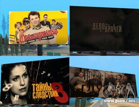 Reemplazo de publicidad (banners) para GTA San Andreas quinta pantalla