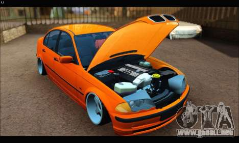 BMW e46 Sedan para GTA San Andreas left