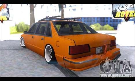 Taxi Extreme Tuning (Hellalfush) para GTA San Andreas vista posterior izquierda