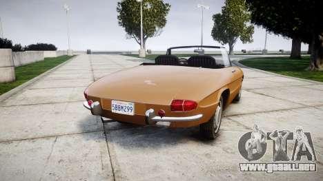 Alfa Romeo Spider 1966 para GTA 4 Vista posterior izquierda