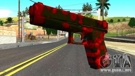Pistol with Blood para GTA San Andreas