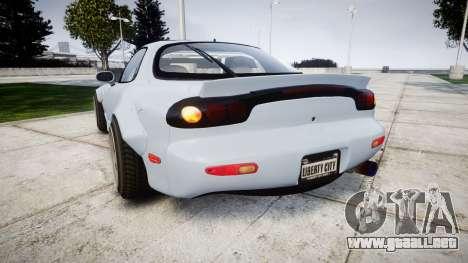 Mazda RX-7 RocketBunny para GTA 4 Vista posterior izquierda
