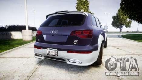 Audi Q7 2009 ABT Sportsline [Update] rims1 para GTA 4 Vista posterior izquierda