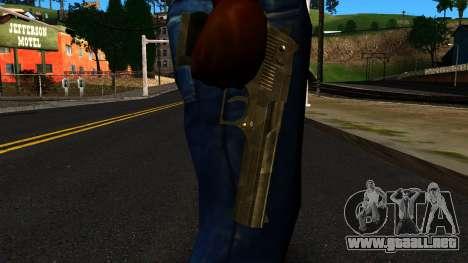 Desert Eagle from GTA 4 para GTA San Andreas tercera pantalla