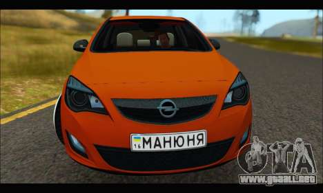 Opel Astra J para GTA San Andreas left