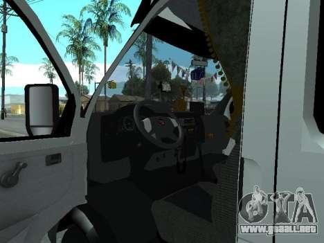 Gacela 33023 Agricultor para GTA San Andreas vista hacia atrás