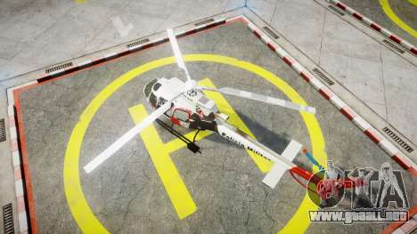 Eurocopter AS350 Ecureuil Aguia 11 PMESP para GTA 4 Vista posterior izquierda