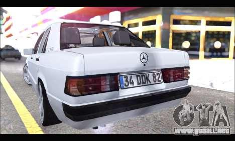 Mercedes Bad-Benz 190E (34 DDK 82) para la visión correcta GTA San Andreas