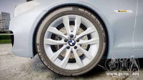 BMW 525d F11 2014 Facelift [ELS] Unmarked para GTA 4 vista hacia atrás