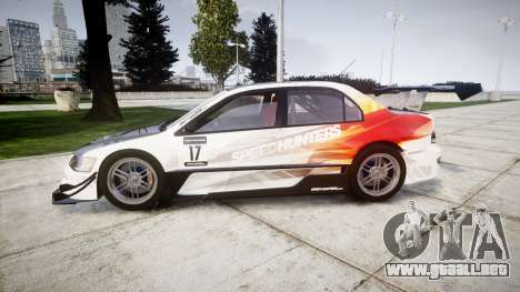 Mitsubishi Lancer Evolution IX HQ para GTA 4 left