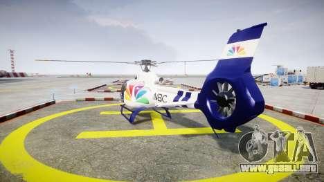 Eurocopter EC130 B4 NBC para GTA 4 Vista posterior izquierda