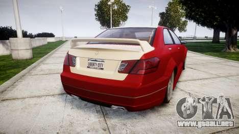 Benefactor Schafter Mercedes-Benz para GTA 4 Vista posterior izquierda