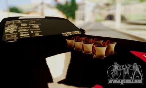 Ford Mustang RTR RedBull para visión interna GTA San Andreas