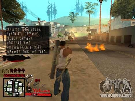 C-HUD Yakuza para GTA San Andreas sexta pantalla