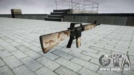 El rifle M16A2 sahara para GTA 4 segundos de pantalla