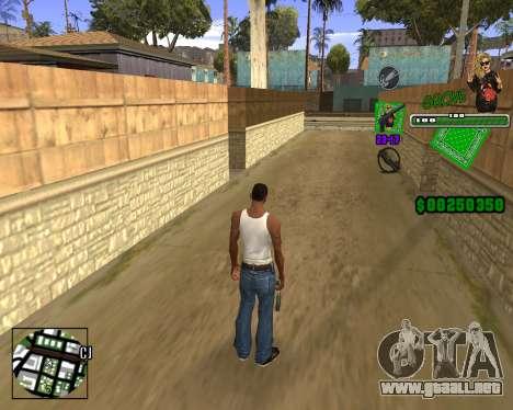 C-HUD Grove St. para GTA San Andreas tercera pantalla