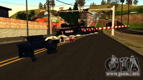 Año Nuevo Rifle De Francotirador para GTA San Andreas segunda pantalla