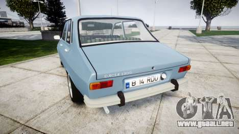 Dacia 1300 v2.0 para GTA 4 Vista posterior izquierda