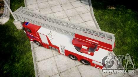 Scania R580 Dutch Fireladder [ELS] para GTA 4 visión correcta