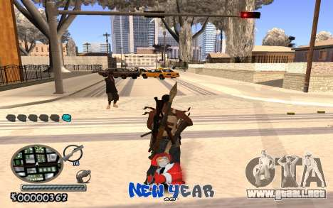 C-HUD New Year para GTA San Andreas