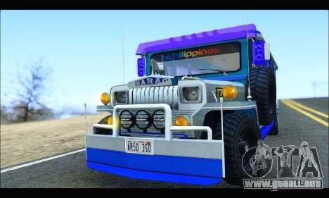 Light Jeepney para visión interna GTA San Andreas