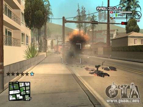 CLEO HUD by SampHack v.20 para GTA San Andreas sucesivamente de pantalla