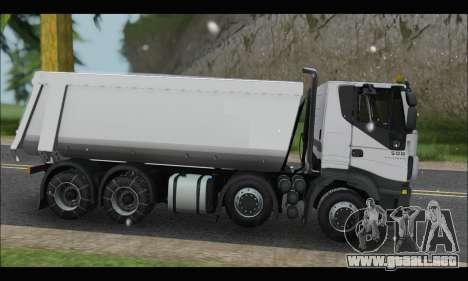Iveco Trakker 2014 Tipper Snow para GTA San Andreas left