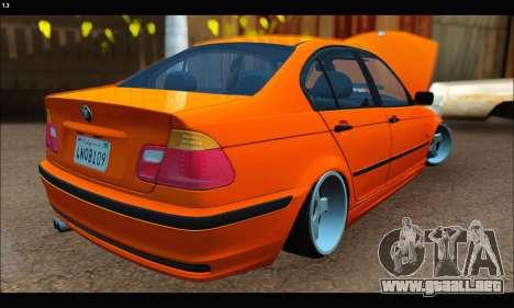 BMW e46 Sedan para GTA San Andreas vista posterior izquierda