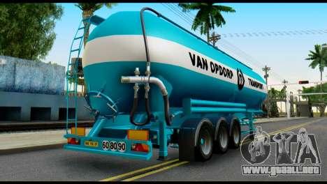 Mercedes-Benz Actros Trailer VAN OPDORP para GTA San Andreas left
