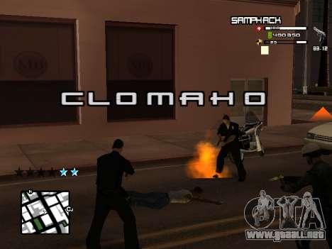 С-HUD por SampHack v. 21 para GTA San Andreas segunda pantalla