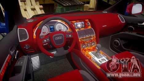 Audi Q7 2009 ABT Sportsline para GTA 4 vista lateral