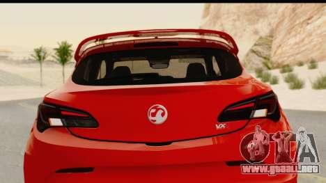 Vauxhall Astra VXR para vista lateral GTA San Andreas