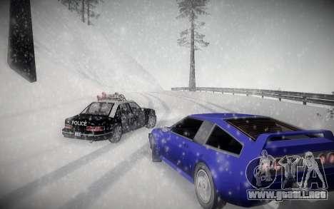 Invierno ENBSeries para GTA San Andreas tercera pantalla