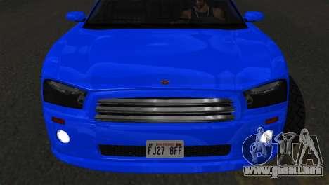 Bravado Buffalo Sedan v1.0 (IVF) para la visión correcta GTA San Andreas