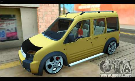Ford Transit Connect para GTA San Andreas left