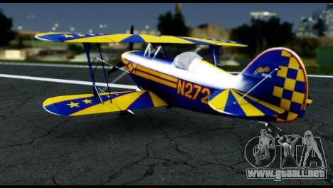 Alabeo PITTS S2S Blue para la visión correcta GTA San Andreas
