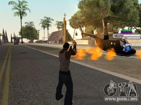 C-HUD Ghetto para GTA San Andreas sucesivamente de pantalla