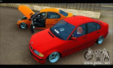 BMW e46 Sedan para visión interna GTA San Andreas
