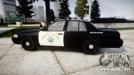Ford Crown Victoria Highway Patrol [ELS] Liberty para GTA 4 left