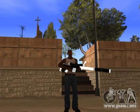 White Chrome Gun Pack para GTA San Andreas décimo de pantalla