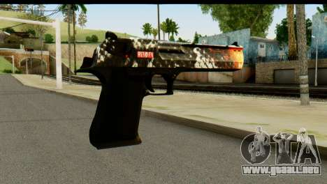 Kill Em All Desert Eagle para GTA San Andreas segunda pantalla