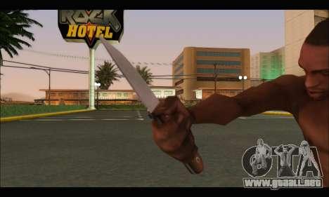 Cuchillo rumano CR1 para GTA San Andreas tercera pantalla