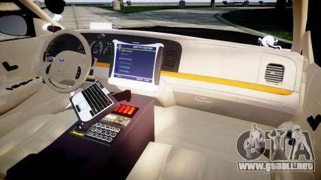 Ford Crown Victoria LAPD [ELS] para GTA 4 vista hacia atrás