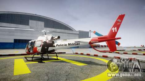 Eurocopter AS350 Ecureuil Aguia 11 PMESP para GTA 4 left