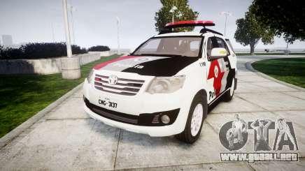 Toyota Hilux SW4 2015 Forca Tatica [ELS] para GTA 4